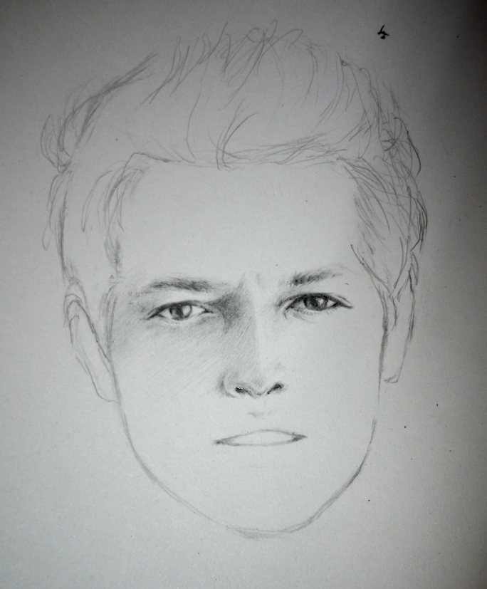 Sketch of Misha Collins