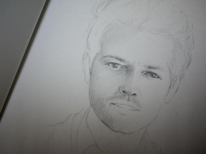 Sketch of Castiel