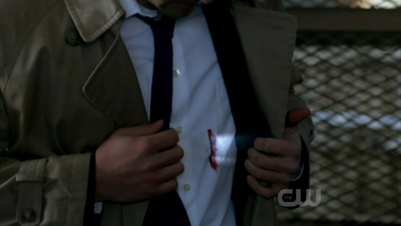 Castiel was stabbed by Rachel