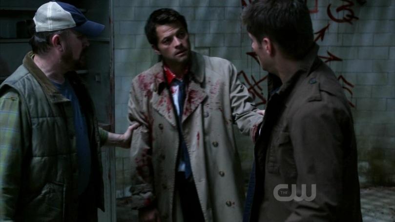 Dean 輕輕拉住 Dean,說自己是真心的