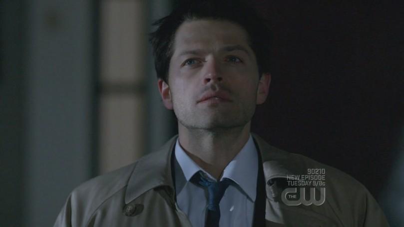 剛剛被 Castiel 附身的模樣,鼻子紅紅眼睛亮亮的模樣很漂亮