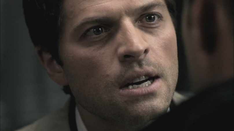 Castiel 火大的跟 Dean 說他背叛天堂、被人追殺,他甚至為 Dean 做了所有的事情,結果卻都是個屁