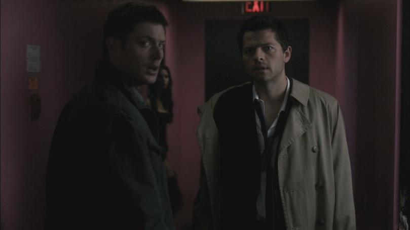 Castiel: 我...我只是跟她說他老爸離家出走不是因為她的關係咩...