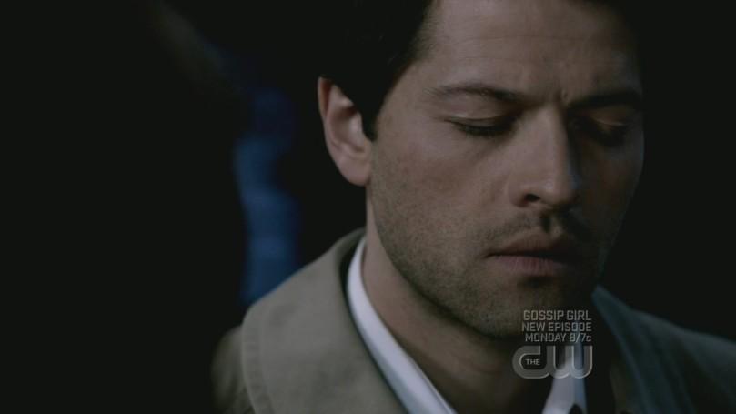 Castiel 對 Dean 正在承受莫大煎熬的不捨表情