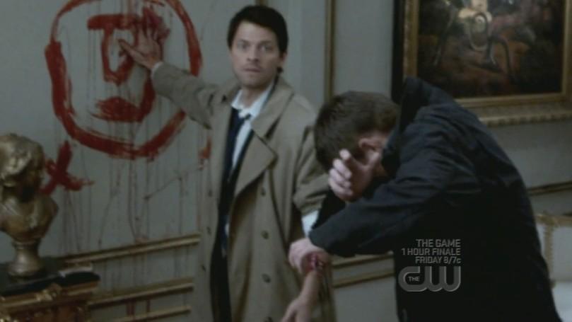 冒死又想要幫 Dean 的 Castiel