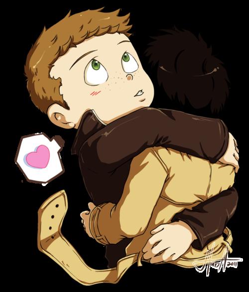 Dean 給 Castiel 一個抱抱