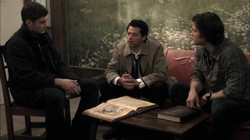 Dean & Sam: ...馬的你那是什麼冷笑話啊?有夠難笑的!Castiel: It's funnier in Enochian.