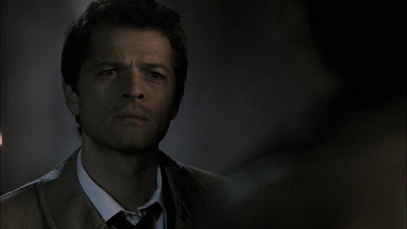 Castiel: 你明知道去那邊只會看到 Michael 殺掉 Sam 的殘忍畫面 ,還非要過去送死,你一定要這麼傻嗎?
