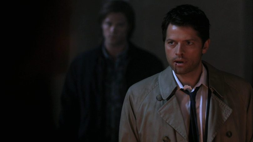 Castiel:(看向 Dean)我相信...人猿也有說話的權利。(沒關係 Dean,我永遠站在你那邊)