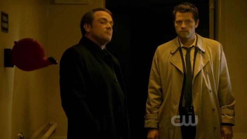 跟著 Crowley 來到地獄的 Castiel
