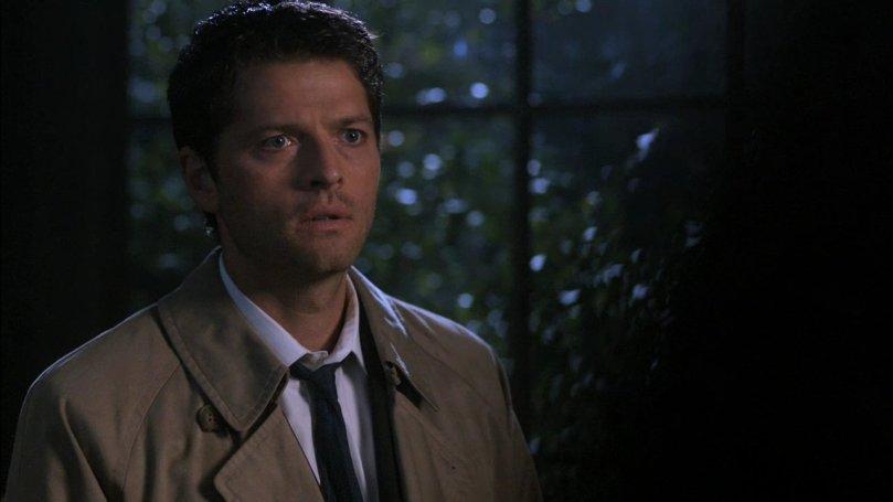 Castiel:你這什麼態度啊?我是打仗打到一半為了你才偷溜出來,現在我有事要回去你居然給我那張臉...