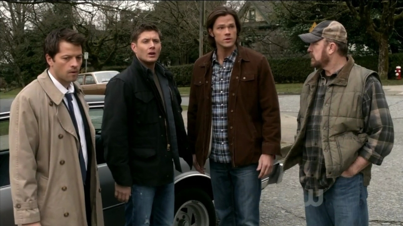 Castiel, Dean Winchester, Sam Winchester, Bobby Singer