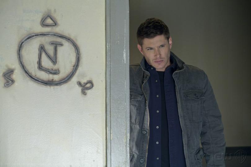 把天使全給打飛出去的 Dean,可憐的小 Cas 也一起飛出去了...