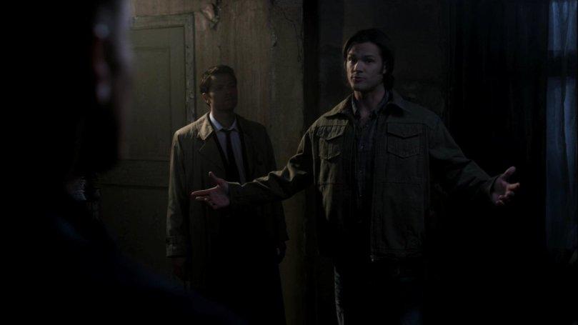 Sam: 這哪有什麼!朋友本來就會互相幫忙不是嗎? Castiel: 話是這樣說的嗎?