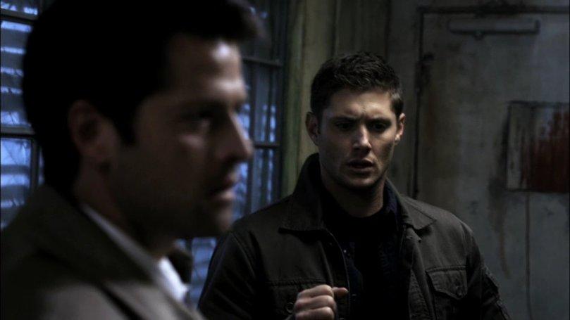 Dean: Oh...shit! 我下次絕對絕對絕對不准你再給我看什麼鬼 A 片!?你這小孩好的不學淨學一堆不正經的東西!