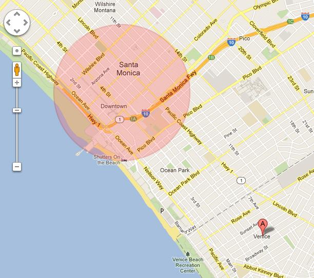 我們離開 LA 的前一天在大紅色區域亂晃,隔天 Misha 就在 A 遛達...哇咧!