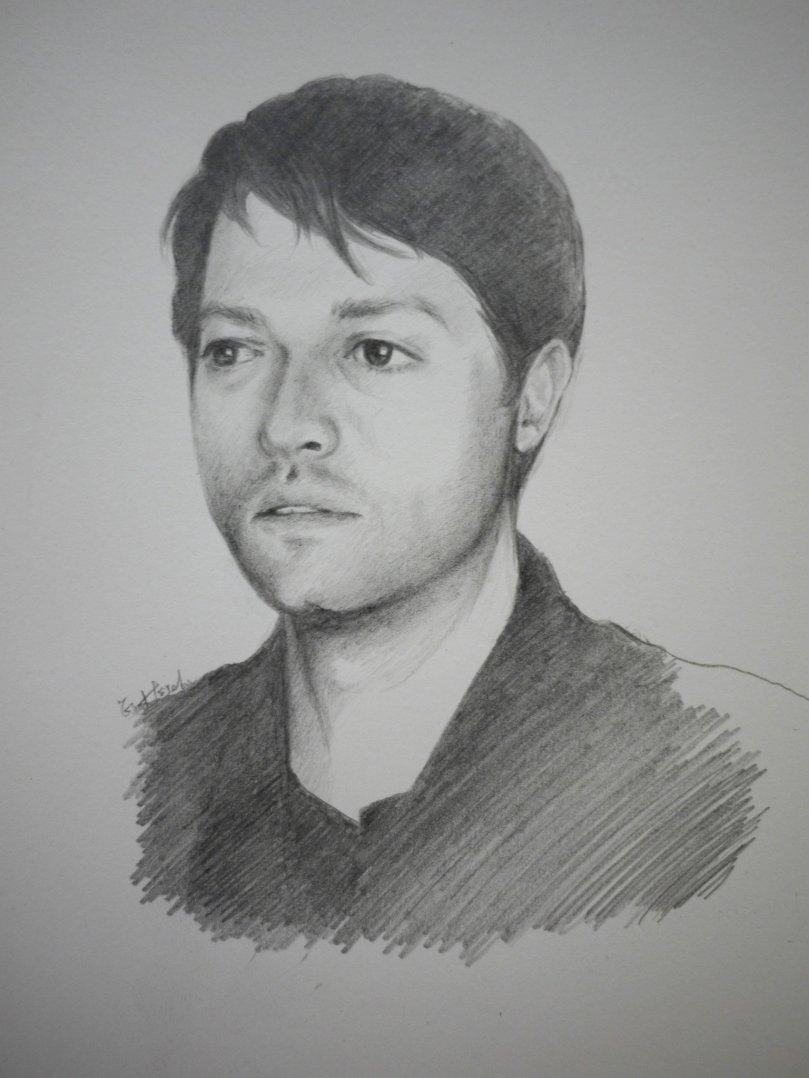Sketch of Misha Collins
