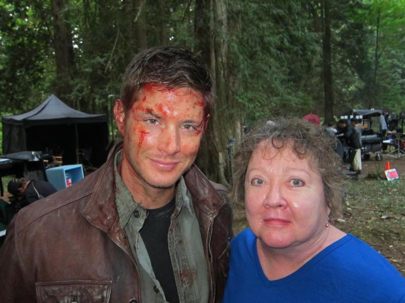 滿臉是血的 Dean,他在煉獄也很辛苦
