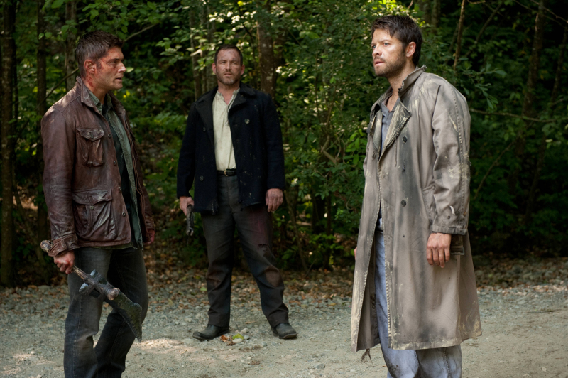 Dean, Benny, and Castiel