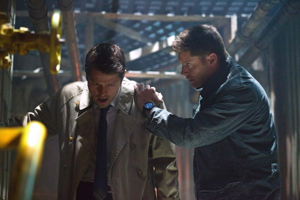 Dean: Hey! Hey! Hey! Are you alright?  Castiel: I'm fine