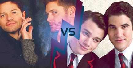 Kurt & Blaine battle Dean & Castiel