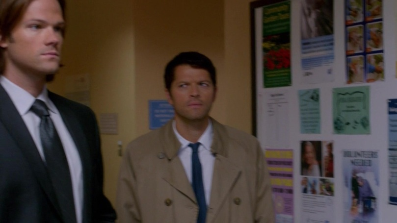 Cas: 呃...為什麼我跟 Sam 會調情?  Sam: 拜託 Cas,Dean 的意思是不准我騷擾他的男朋友啦!