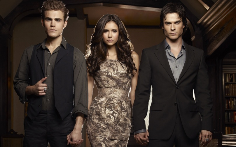 The Vampire Diaries, Elena Gilbert, Stefan and Damon Salvatore
