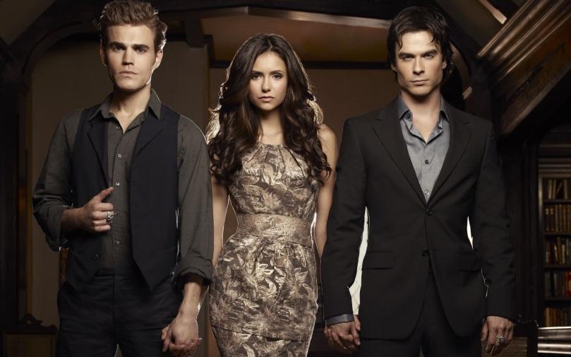 The Vampire Diaries, Elena Gilbert, Stefan and Damon Salvatore