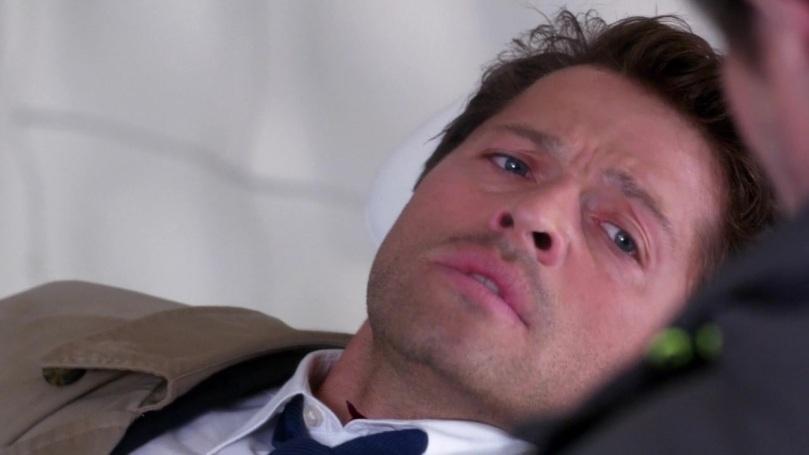 Castiel 看起來一副說不出話的可憐模樣