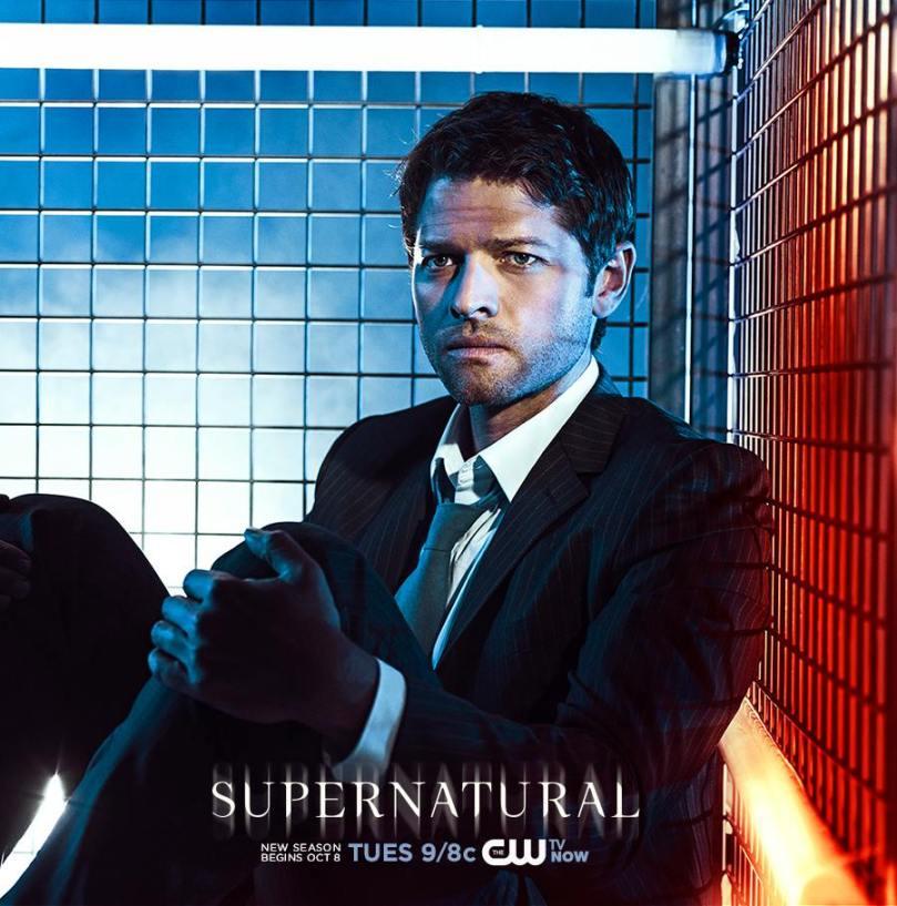 Supernatural 第九季宣傳海報,Cas 你這張臉好苦情喔~XD