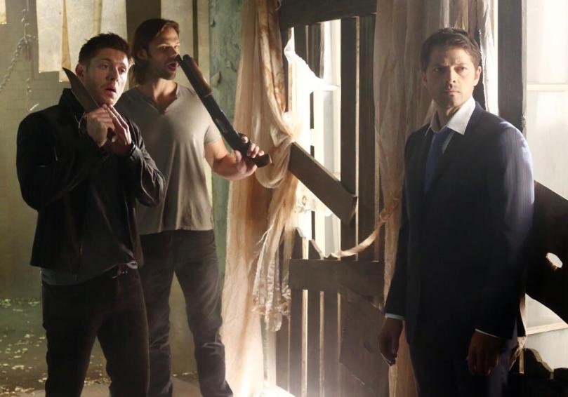 只有 Misha 一個人很認真的演 Castiel,後面兩個都在耍寶