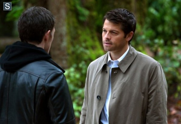 Castiel talking to Gadreel