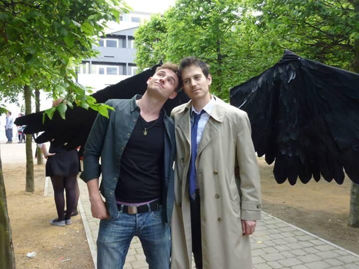 這張也很漂亮,但是我花了點時間才看出左邊的是  Dean,你也太青春了吧? (source: http://littlehollyleaf.tumblr.com)