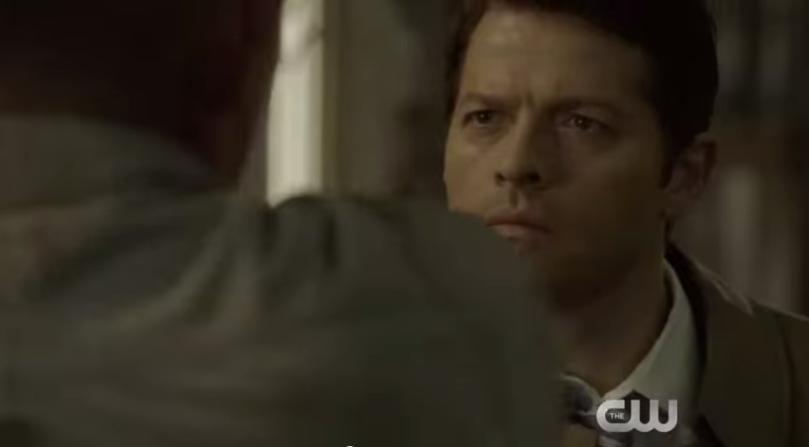 我想這一幕應該是 Dean 跟 Castiel 對峙的畫面