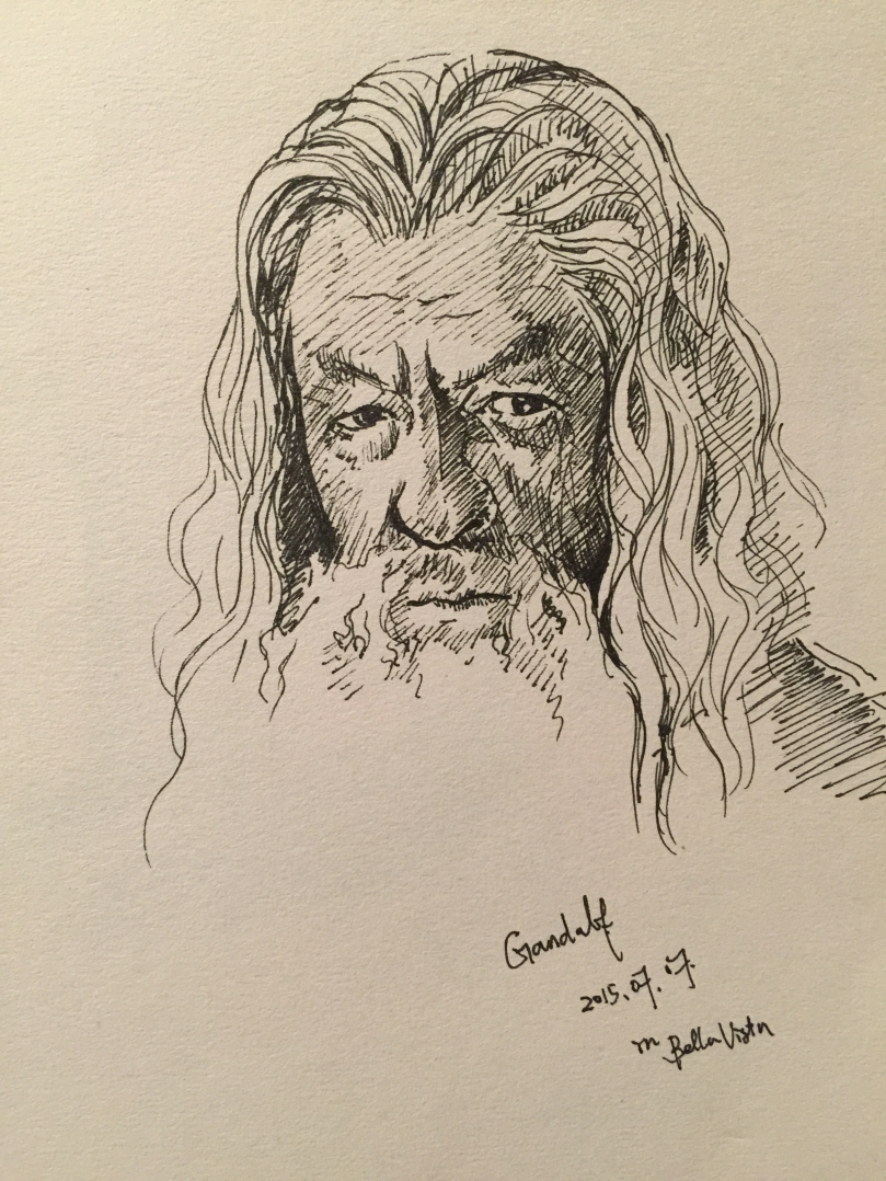 Sketch of Gandalf