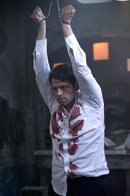 我其實好喜歡看到穿白襯衫的 Castiel,但是沒有特別喜歡滿身血啊!!