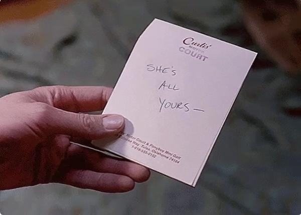 Dean 的筆跡,字跡比較 Sam 的粗獷風格來講要更纖細一點