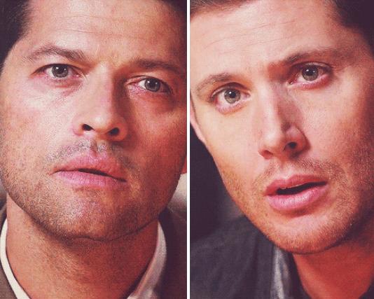 這是 Castiel 發現 Dean 不對勁有事瞞著他的表情,Dean 自己也馬上發現瞞不過 Castiel,不過他又不知道該怎麼解釋